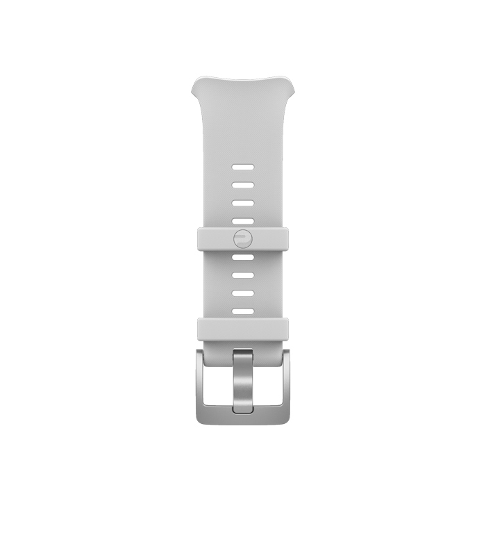 polar vantage v bracelet single buckle white